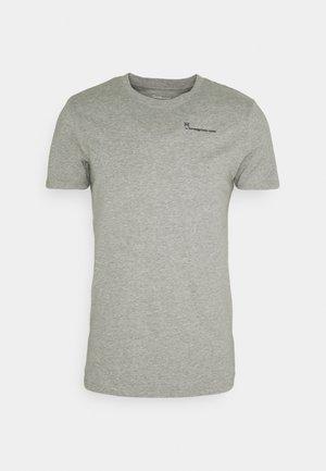 ALDER TEE - T-shirt - bas - grey melange