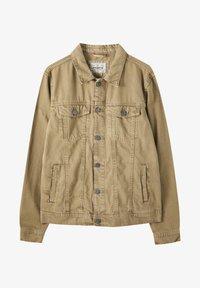 PULL&BEAR - Džínová bunda - mottled brown - 5