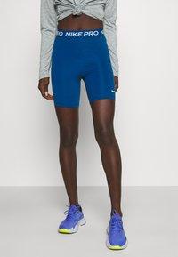 Nike Performance - SHORT HI RISE - Tights - court blue - 0