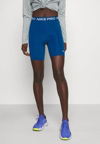 SHORT HI RISE - Leggings - court blue