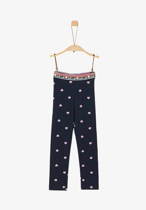 Leggings - Trousers - dark blue aop