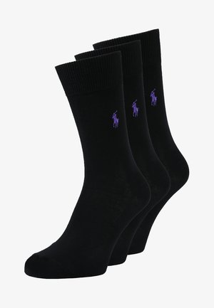 MERCERIZED SOCKS 3 PACK - Chaussettes - black