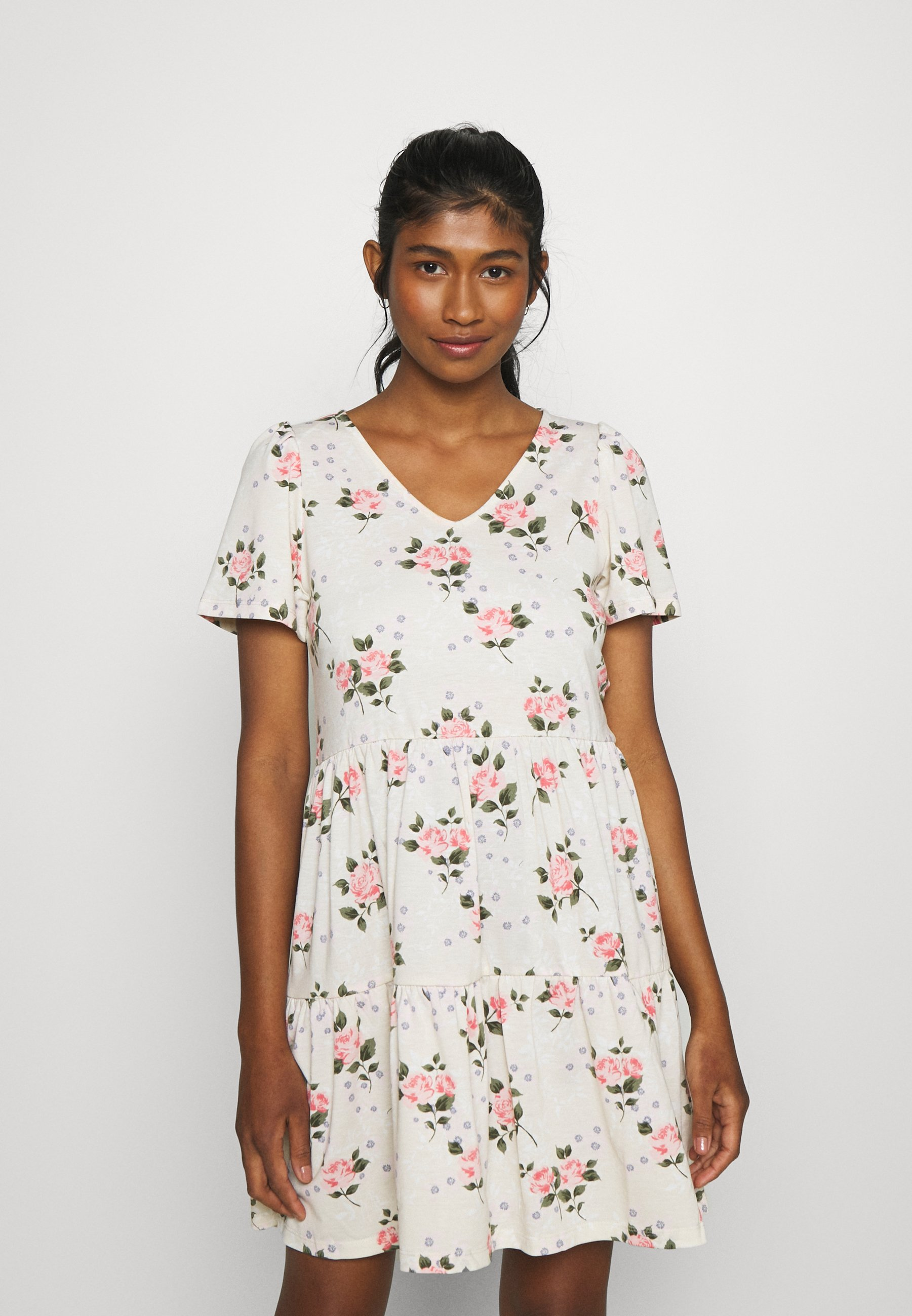 Women VIEDENA V-NECK DRESS - Jersey dress