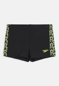 Speedo - BOOMSTAR SPLICE AQUASHORT - Swimming trunks - black/fluo yellow - 0