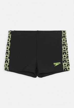 BOOMSTAR SPLICE AQUASHORT - Swimming trunks - black/fluo yellow