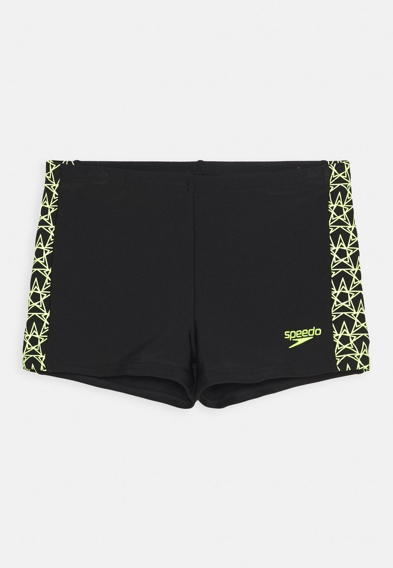 Speedo - BOOMSTAR SPLICE AQUASHORT - Swimming trunks - black/fluo yellow