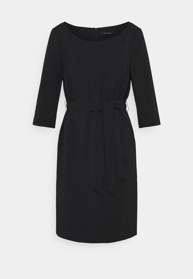 comma - Pouzdrové šaty - black