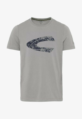 MIT CAMEL ACTIVE LOGOPRINT  - Print T-shirt - cloudy grey
