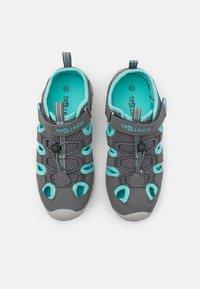 TrollKids - KIDS KRISTIANSAND UNISEX - Walking sandals - grey/mint - 3