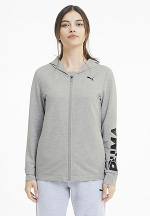Zip-up hoodie - light gray heather