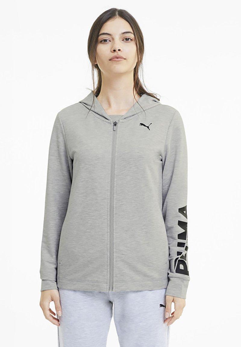 Puma - Zip-up hoodie - light gray heather