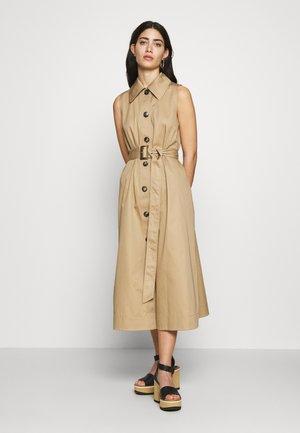 SLEEVELESS DRESS - Day dress - dark khaki