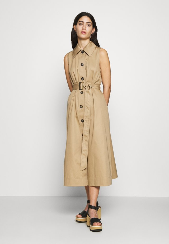 SLEEVELESS DRESS - Day dress - dark khaki