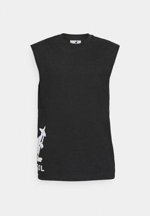 KANSAS TANK TOP - T-shirt con stampa - black
