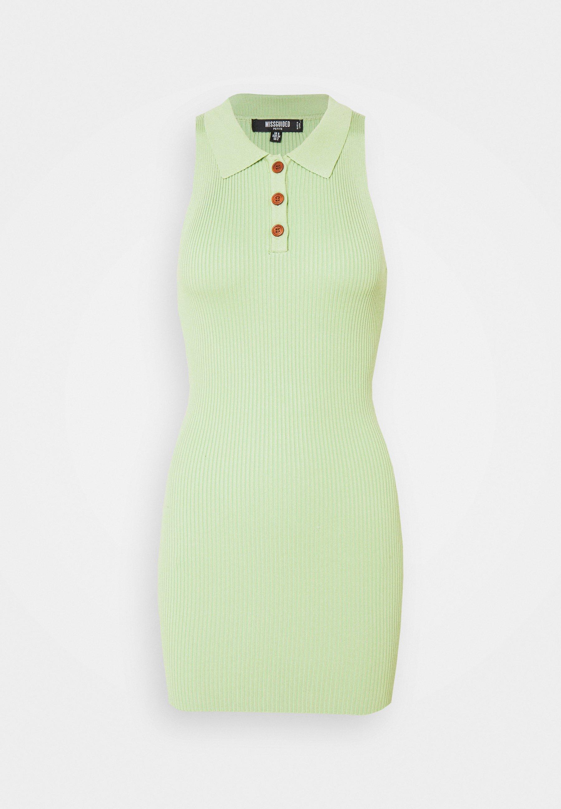 Women COLLAR BUTTON MINI DRESS - Shift dress