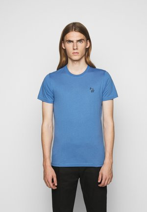 SLIM FIT ZEBRA - Basic T-shirt - blue