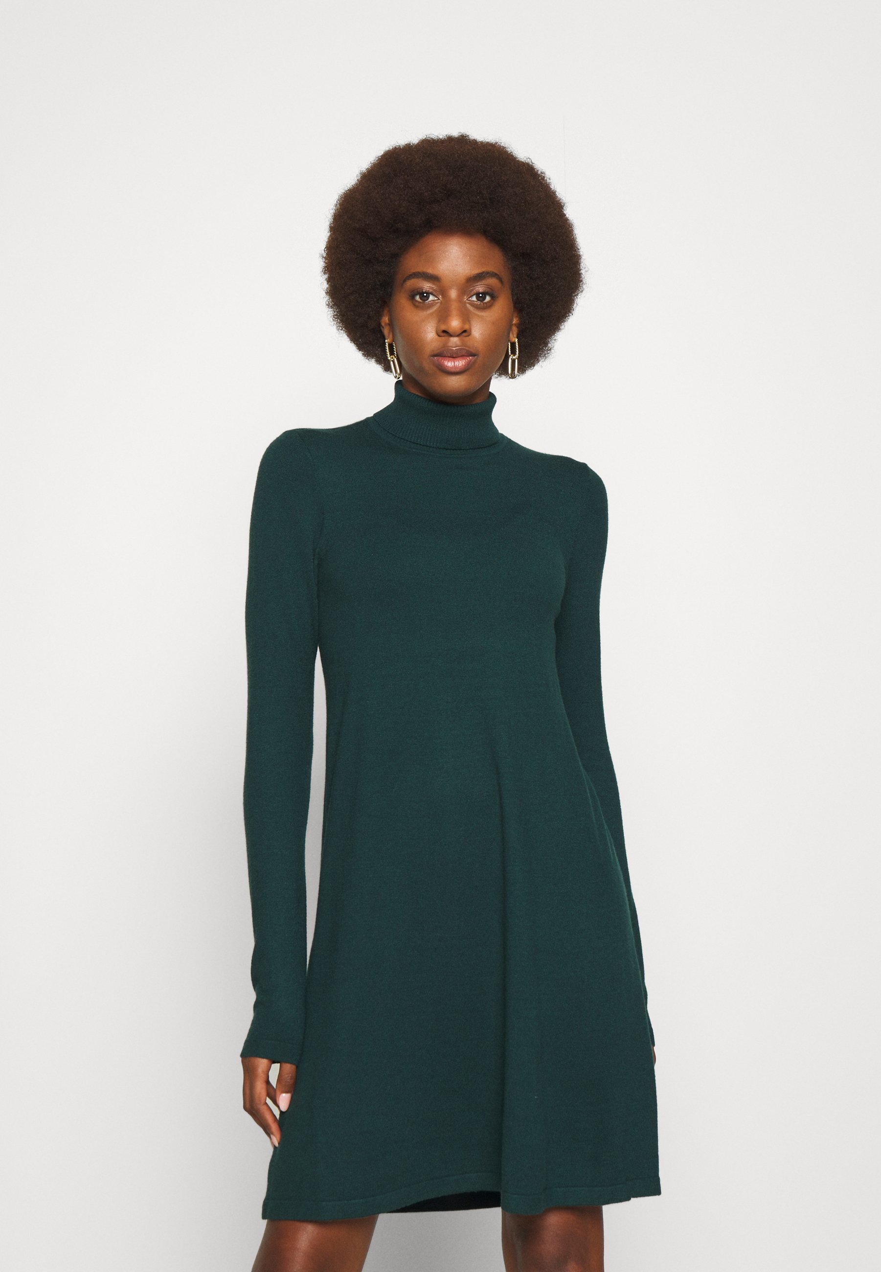 Donna VMHAPPINESS ROLLNECK DRESS - Abito in maglia