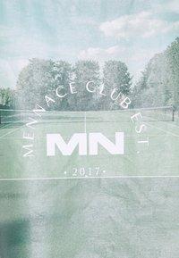 Mennace - CLUB TENNIS COURT UNISEX - Print T-shirt - white - 8