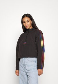 adidas Originals - PAOLINA RUSSO CROPPED HALFZIP - Windbreaker - black - 0