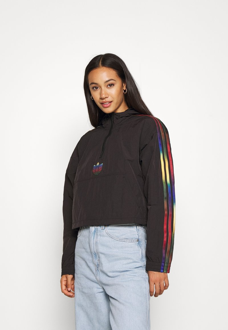 adidas Originals - PAOLINA RUSSO CROPPED HALFZIP - Windbreaker - black