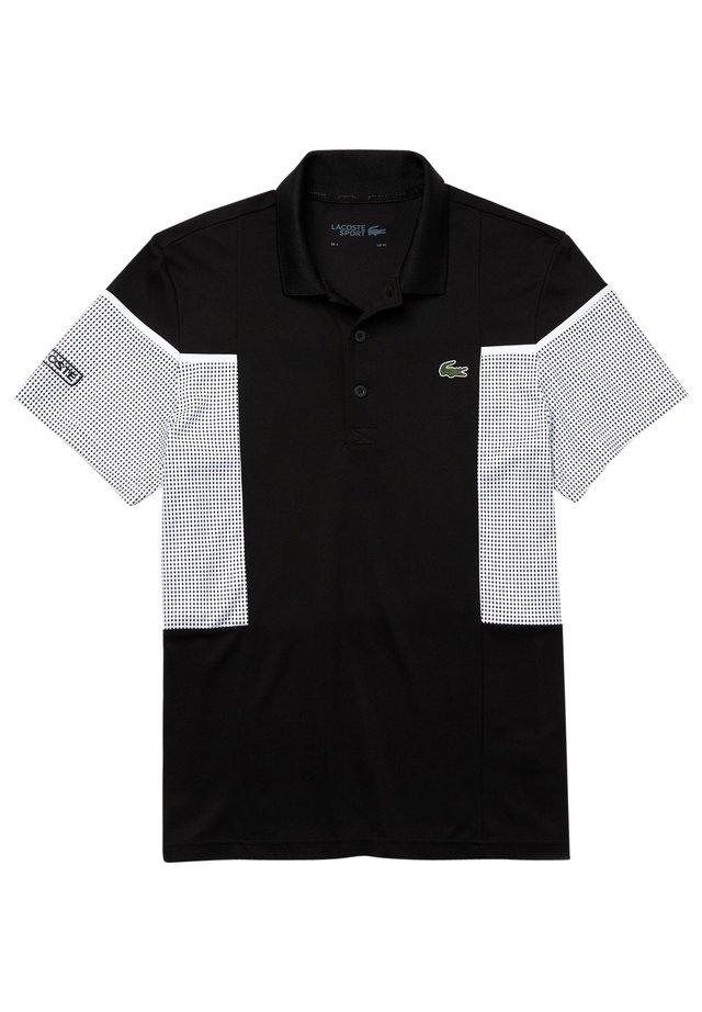 Polo shirt - schwarz/weiß/weiß/schwarz