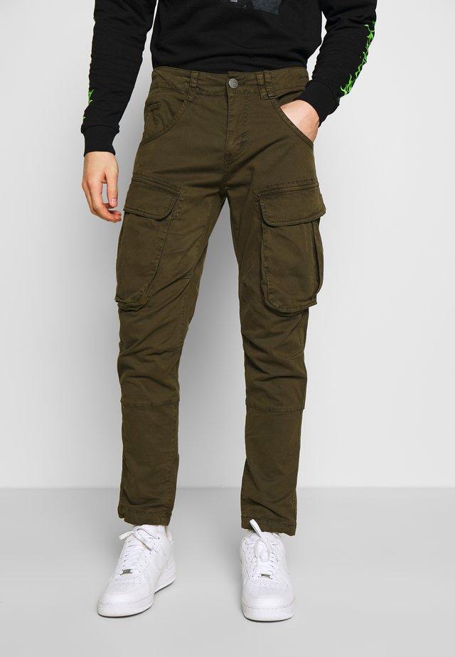 RUFO - Pantalon cargo - olive