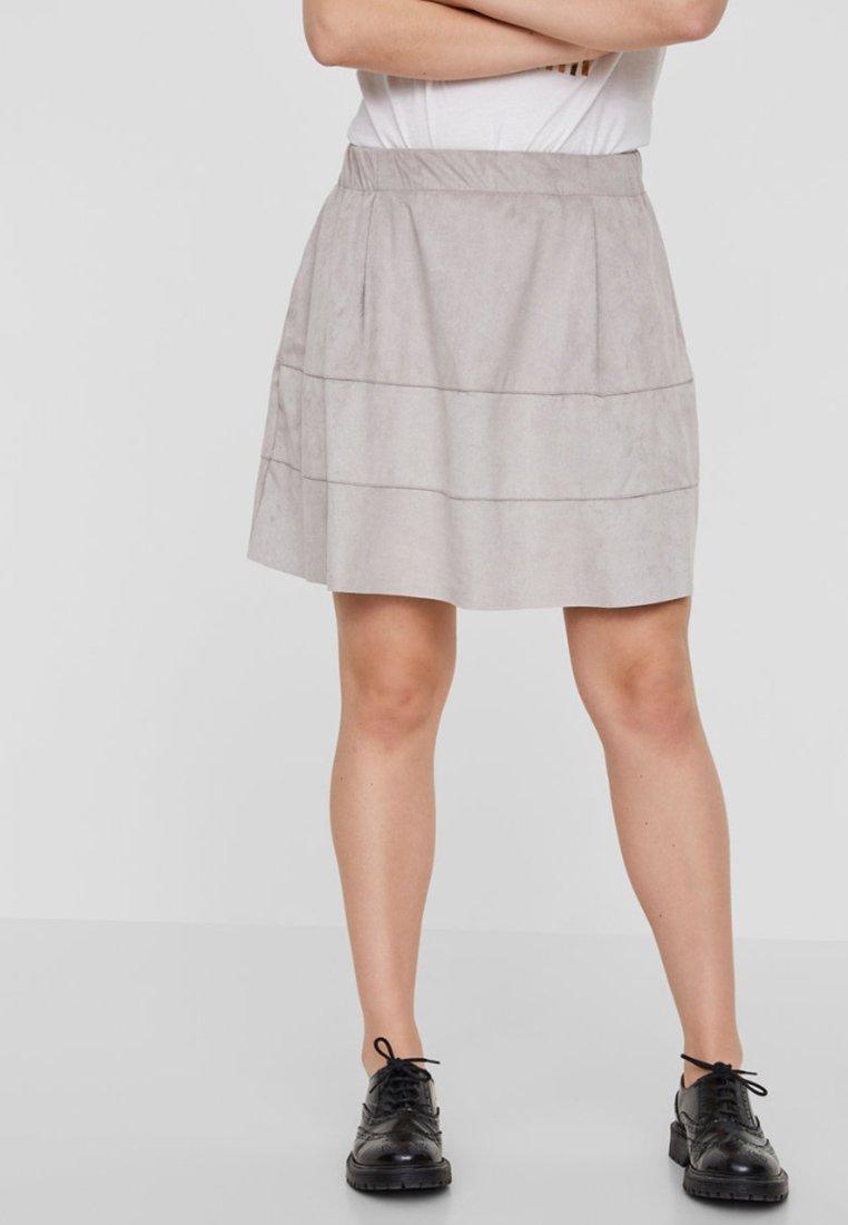Noisy May - NMLAUREN  - A-line skirt - grey
