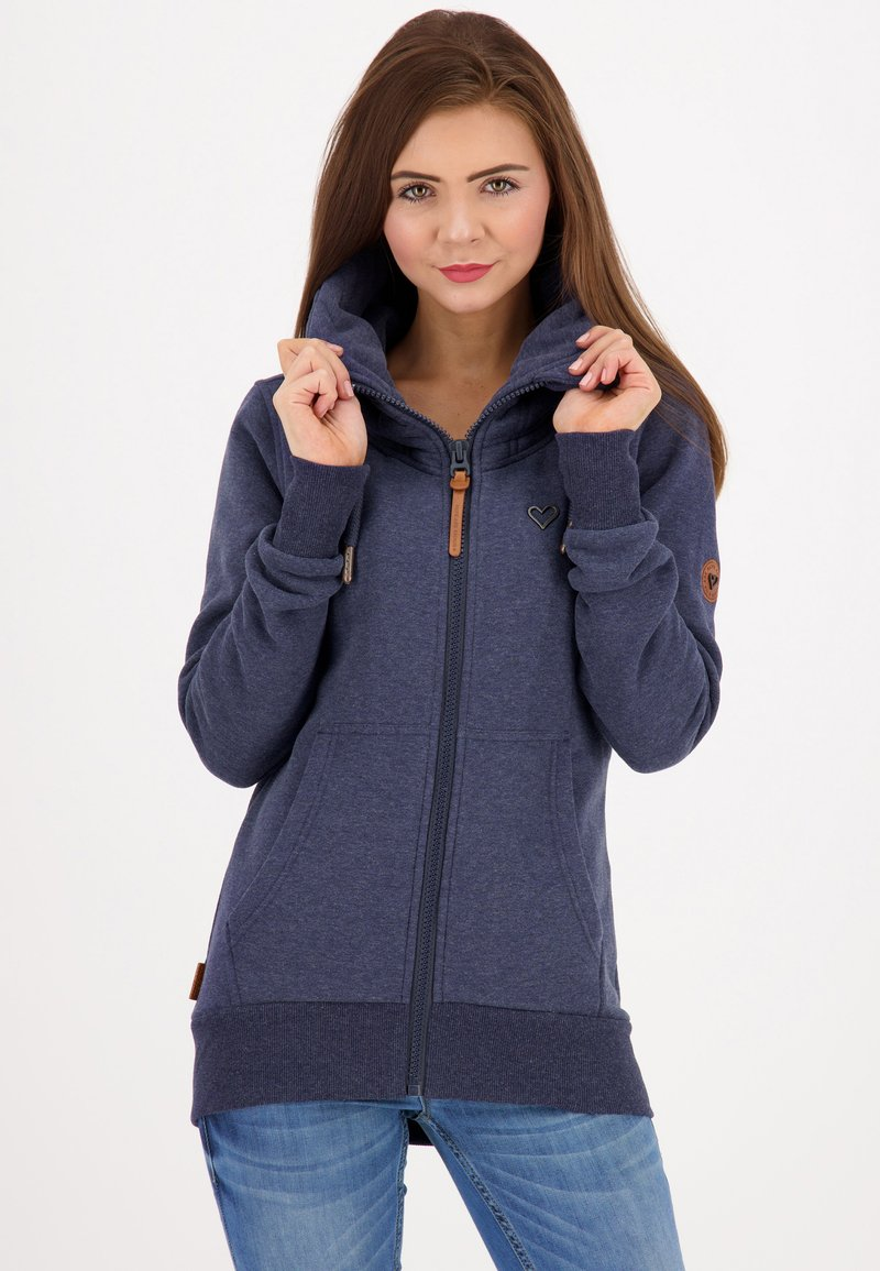 alife & kickin - VIVIANAK - Zip-up hoodie - marine