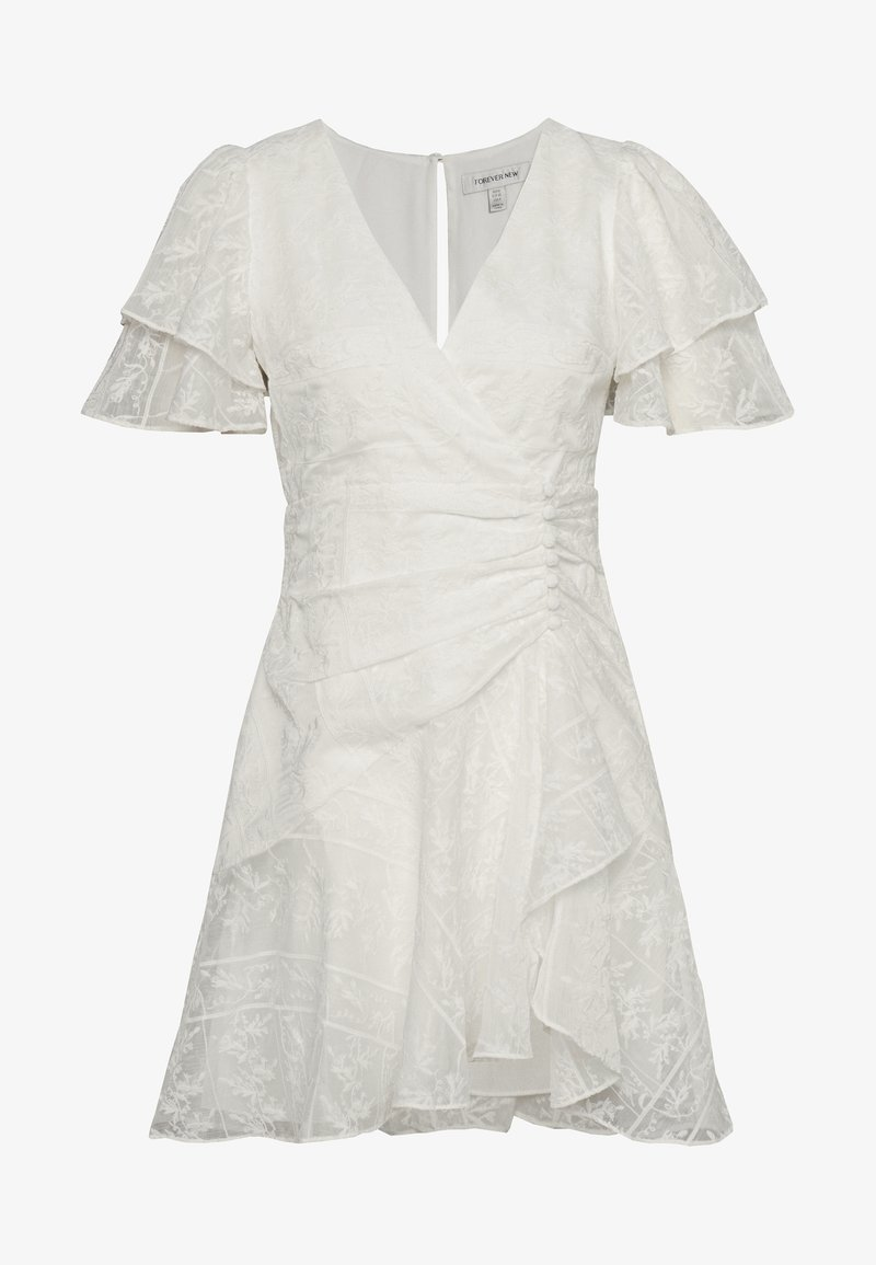 Forever New - EMBROIDERED MINI DRESS - Day dress - offwhite