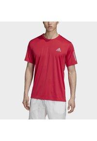 adidas Performance - 3-STRIPES CLUB T-SHIRT - Print T-shirt - pink - 4