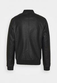 Jack & Jones - JJLOGAN JACKET - Faux leather jacket - black - 1