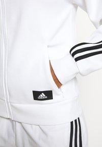 adidas Performance - FI 3-STRIPES FULL ZIP REG SPORTS FUTURE ICONS PRIMEGREEN TRACK TOP HOODIE - Zip-up sweatshirt - white - 4