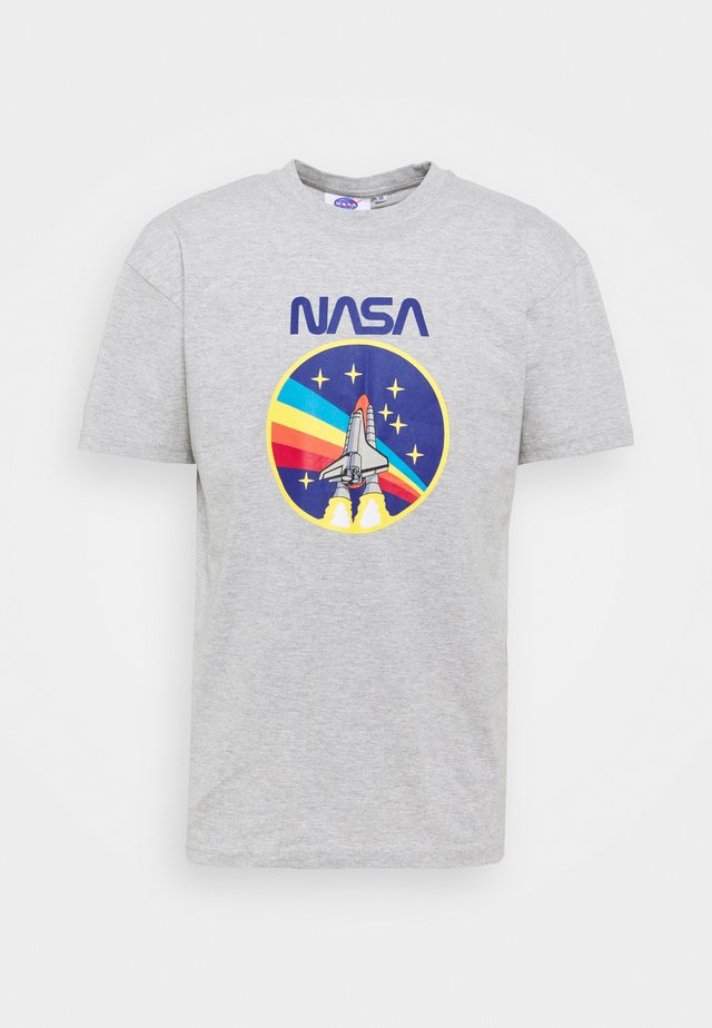 NASA ROCKET TEE  - Print T-shirt - grey marl