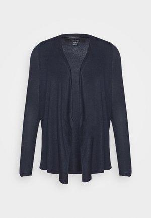 VMBRIANNA DRAPY CARDIGAN - Cardigan - navy blazer/black melange