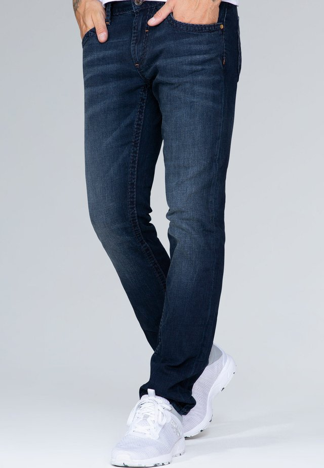 Straight leg jeans - blue black vintage