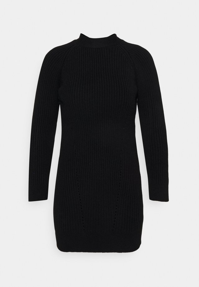 BOW BACK DRESS - Robe pull - black