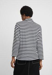 Carhartt WIP - HALDON - Long sleeved top - black/white/cardinal - 2