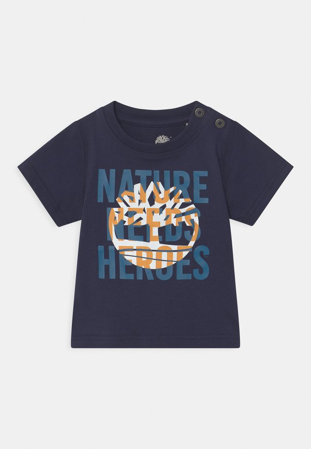 SHORT SLEEVES - Print T-shirt - navy