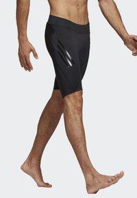 adidas Performance - ALPHASKIN TECH SHORT 3-STRIPES TIGHTS - Sports shorts - black - 3