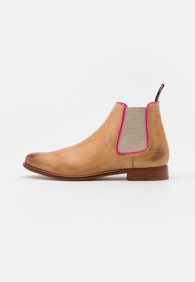 SELINA  - Boots à talons - imola/sand/fluo fuxia/white/natural