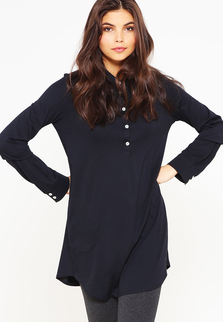 Marc O'Polo - WITH COLLAR - Pyjama top - black