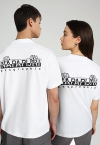 Napapijri - S JURASSIC - Print T-shirt - bright white - 3