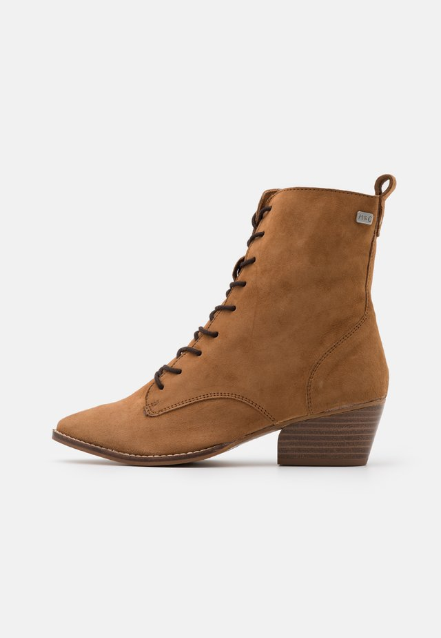 BAVIERA - Bottines à lacets - cognac
