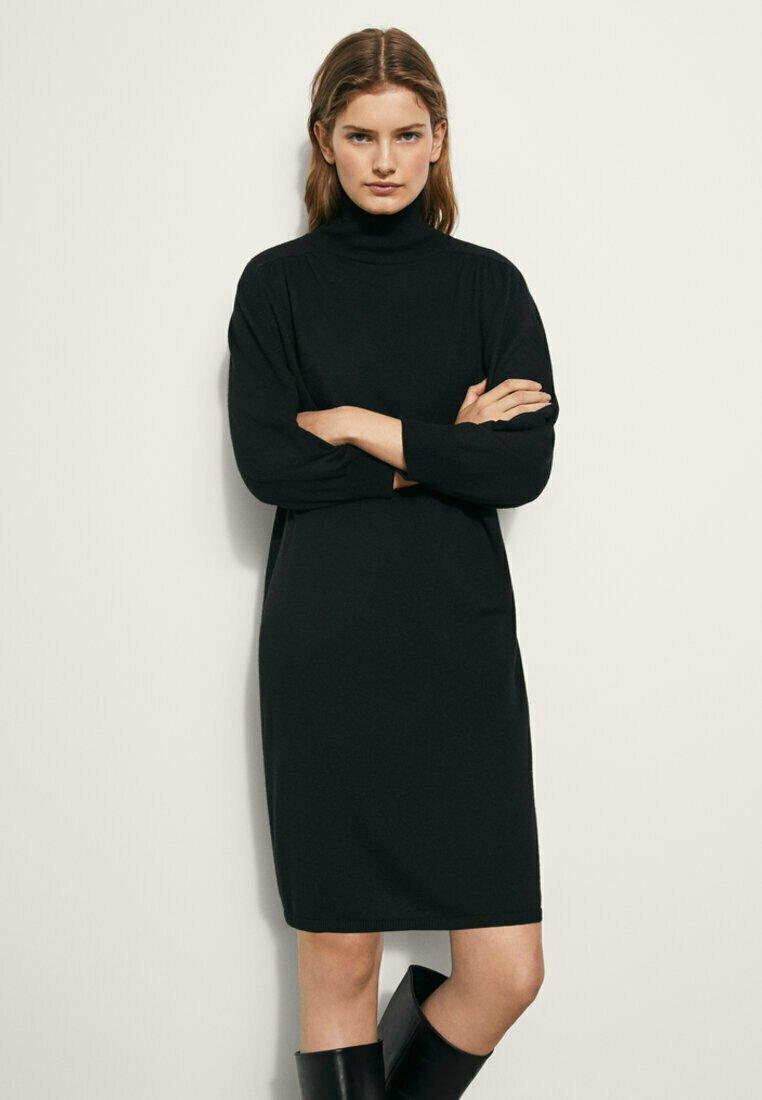 Massimo Dutti - MIT KORDEL - Jumper dress - black