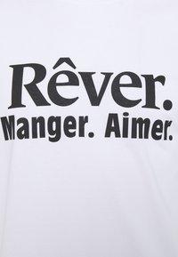 Les Petits Basics - REVER MANGER AIMER UNISEX - Print T-shirt - white/black - 2