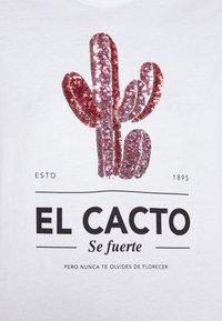 ONLY - ONLKITA LIFE CACTUS BOX  - Print T-shirt - bright white - 5