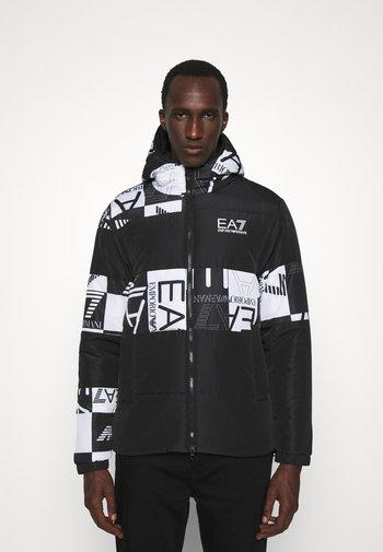 Zimní bunda - black/white
