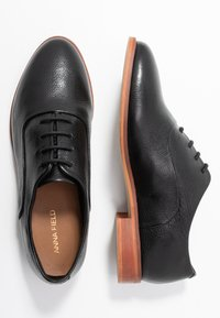 Anna Field - LEATHER LACE-UPS - Lace-ups - black - 3