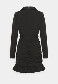 Missguided - RUCHED FRILL BLAZER DRESS - Etuikjole - black - 1