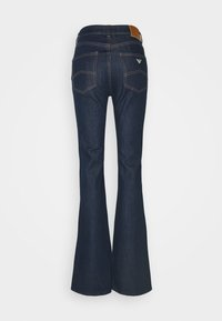 Emporio Armani - POCKETS PANT - Flared Jeans - denim blu - 1